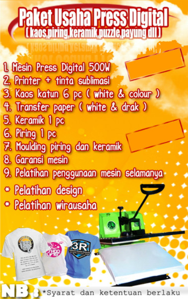 Paket Usaha Press Digital