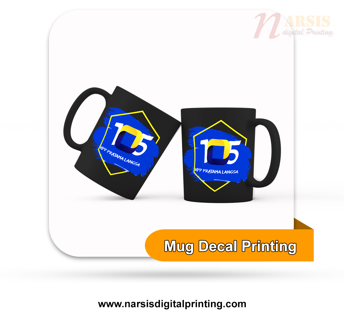 Mug Decal hitam